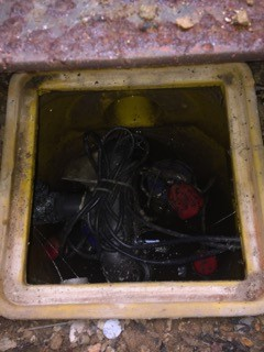 Before sump pump clean