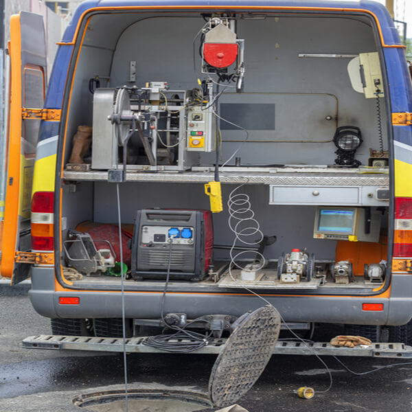 CCTV drain survey being carried out