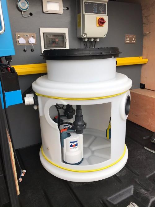 Existing sump pump system