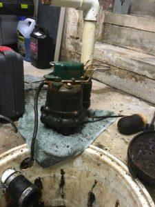 sewage pump not working properly